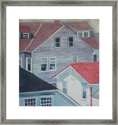 View From Theback Window Framed Print by Ally Benbrook