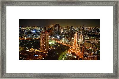 View From Tokyo Tower Framed Print