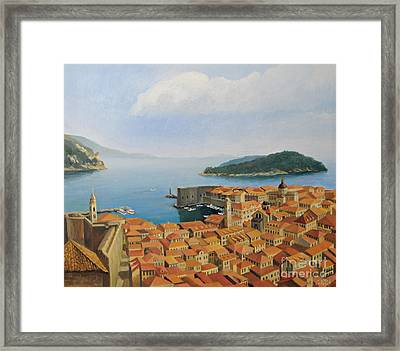 View From Top Of The World Framed Print