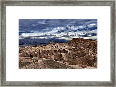 View From Zabriskie Point  Framed Print