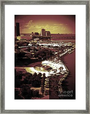 View From The 23rd Floor Framed Print by Maria Arango