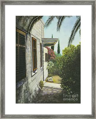View In A Croatian Garden Framed Print