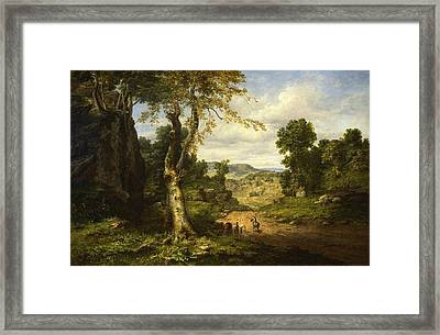 View In Berkshire County, Massachusetts, Clearing Off After A September Storm Framed Print