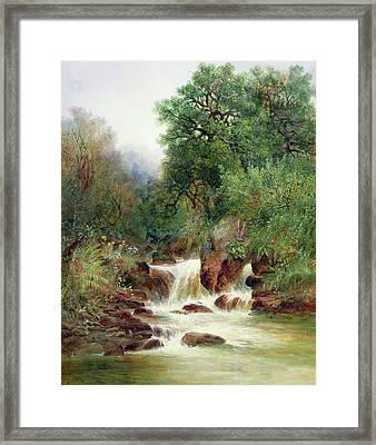 View In Gidley Park, Devon Framed Print by William Widgery
