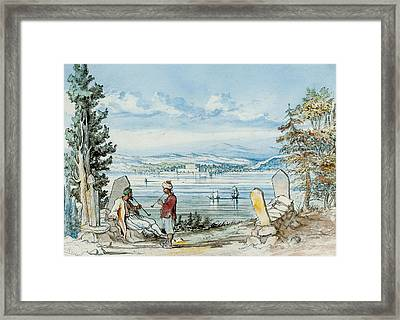 View In The Dardanells Framed Print by WH Wrench