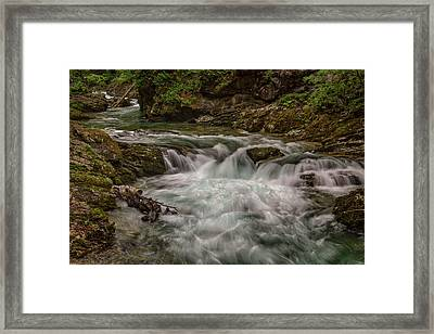 Framed Print featuring the photograph View In Vintgar Gorge #2 - Slovenia by Stuart Litoff