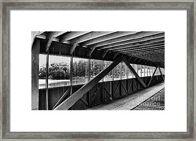 View Inside Covered Bride Black And White Framed Print by Jeanne OConnor