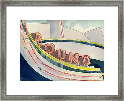 View Of A Carousel Framed Print