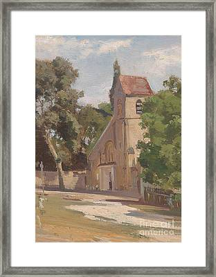 View Of A Church Portal Framed Print by MotionAge Designs