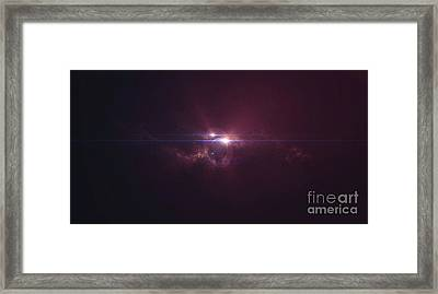 View Of A Distant Gas Giant In A Binary Framed Print