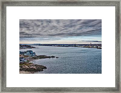 View Of Abbot Hall From Marblehead Lighthouse Framed Print by Jeff Folger