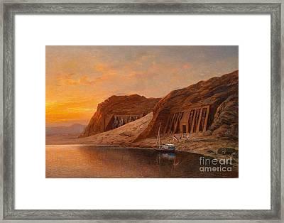 View Of Abu Simbel Framed Print