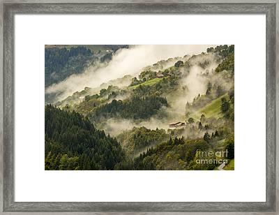 View Of Alpine Landscape. France. Framed Print