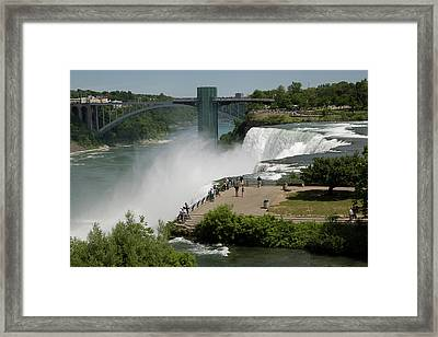 Framed Print featuring the photograph View Of American Niagara Falls by Jeff Folger