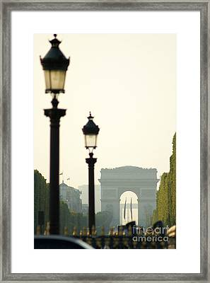 View Of Arc De Triomphe Framed Print