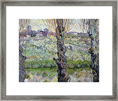 View Of Arles Framed Print by Vincent Van Gogh