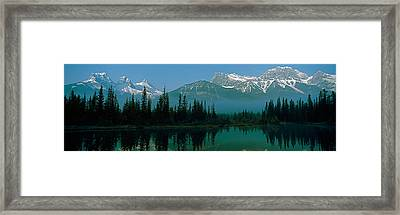 View Of Beaver Pond, Three Sisters Framed Print