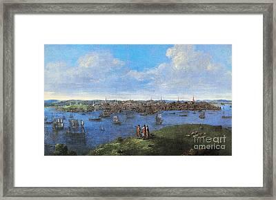 View Of Boston, 1738 Framed Print by Granger