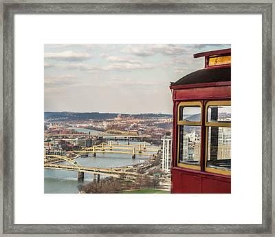 View From Duquesne Incline Framed Print by Eclectic Art Photos