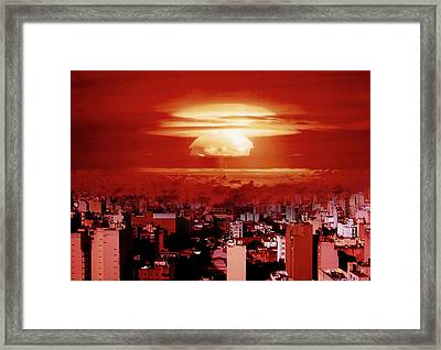 View Of Buenos Aires Framed Print