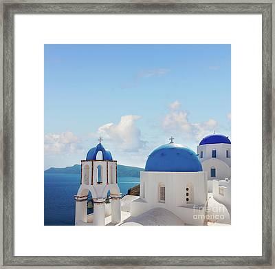Caldera  Of Santorini Framed Print