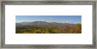 View Of Cascade From Crow Mt. Framed Print