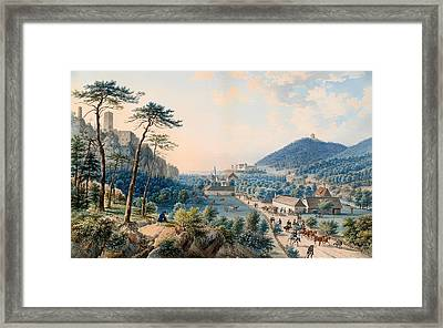 View Of Castle Weilburg - Lower Austria Framed Print