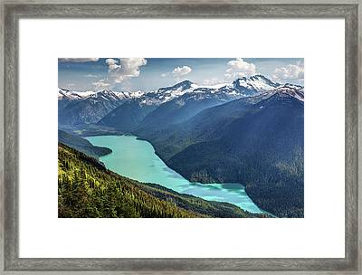 Framed Print featuring the photograph View Of Cheakamus Lake From The High Note Trail by Pierre Leclerc Photography