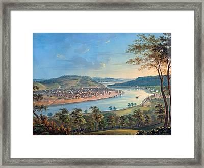 View Of Cincinnati From Covington Framed Print by John Caspar Wild