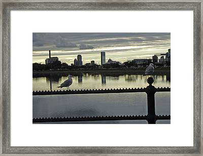 View Of City Of Boston From Castle Island Framed Print