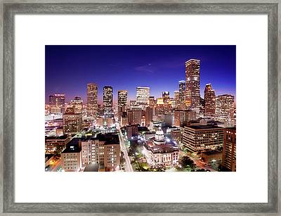 View Of Cityscape Framed Print