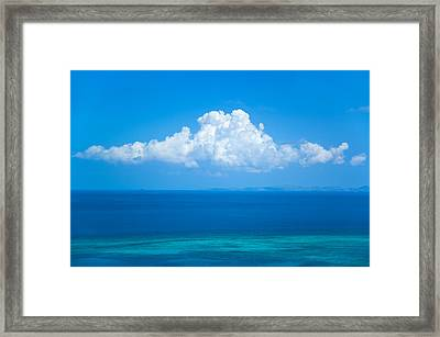 View Of Clouds Over Ocean Framed Print