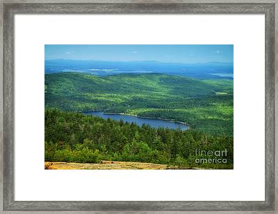 View Of Eagle Lake Framed Print by Elizabeth Dow