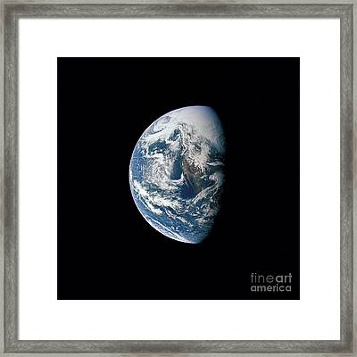 View Of Earth Taken From The Apollo 13 Framed Print