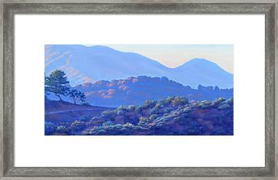 View Of El Scorpion Park Framed Print by Elena Roche