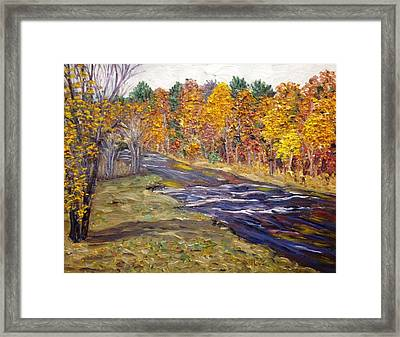 View Of Fall Colors, Westfield River Framed Print by Richard Nowak