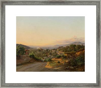 View Of Florence And The Hills To The West Of San Framed Print by MotionAge Designs