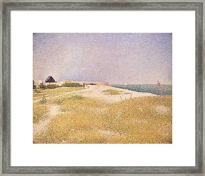 View Of Fort Samson Framed Print by Georges Pierre Seurat