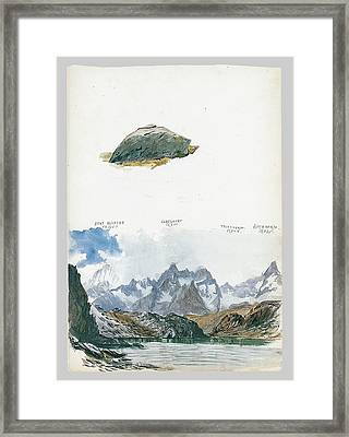 View Of Four Mountains From The Gorner Grat Framed Print