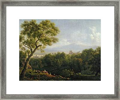 View Of Frascati Framed Print by Jean Bidauld