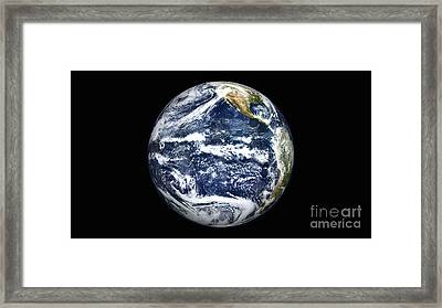 View Of Full Earth Centered Framed Print
