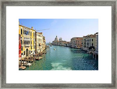 View Of Grand Canal In Venice From Accadamia Bridge Framed Print by Michael Henderson