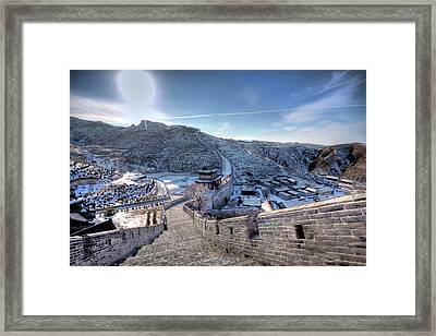 View Of Great Wall Framed Print by Photograph by Sunny Ip.