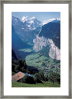 View Of Gruenwald In Switzerland Framed Print by Carl Purcell