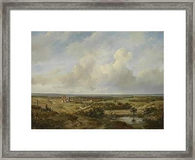 View Of Haarlem Framed Print by Andreas Schelfhout