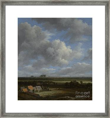 View Of Haarlem From The Northwest Framed Print by Jacob Isaackszoon van Ruisdael