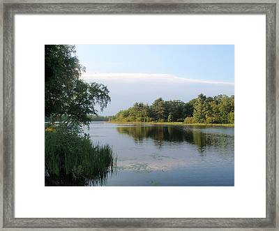 Framed Print featuring the photograph View Of Hamlin Lake by Beth Akerman