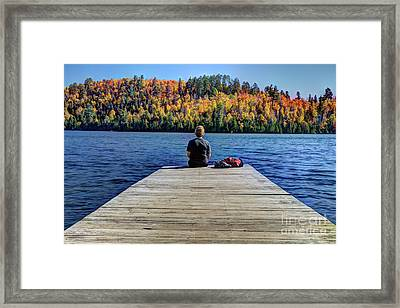 View Of Heaven Mic Mac Lake Tettegouche State Park Minnesota Framed Print