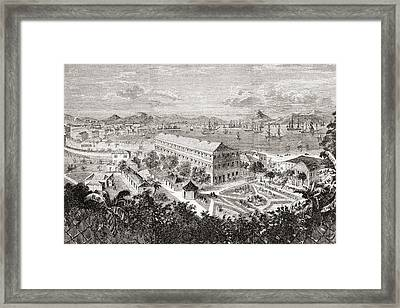 View Of Hong Kong And Its Harbour In Framed Print by Vintage Design Pics