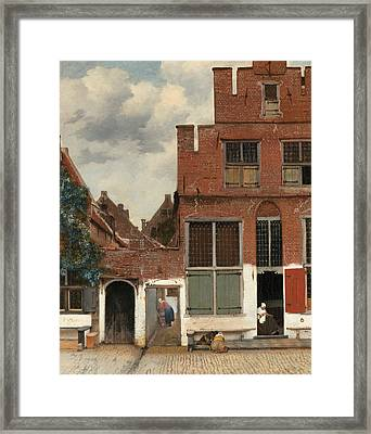 View Of Houses In Delft Framed Print